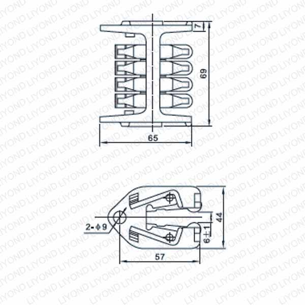 WCD- 630 Longitudinal rotary contact with 8 sheets