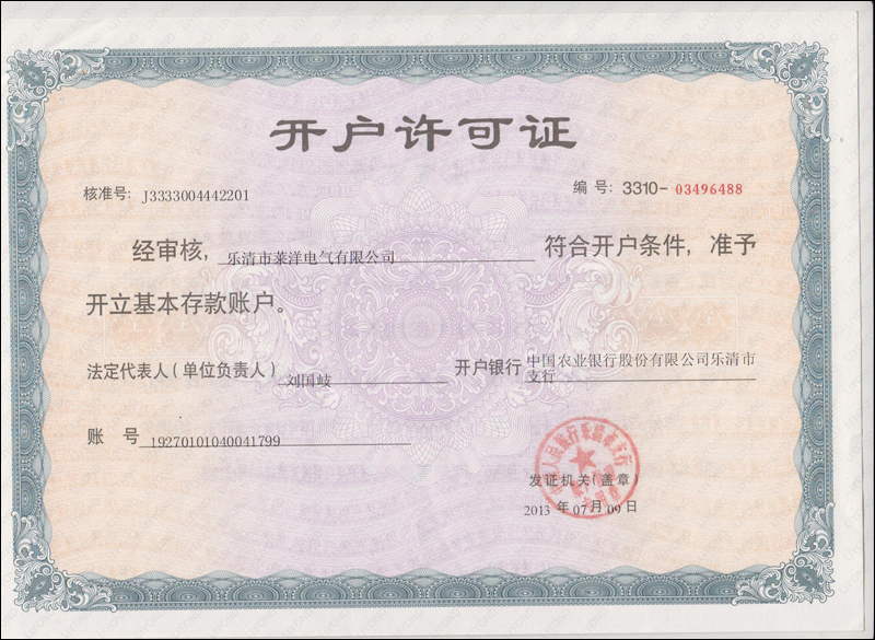 Account permits