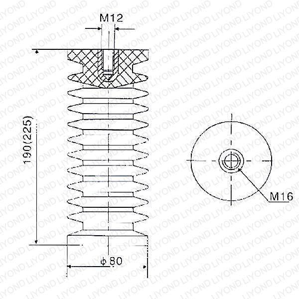 24kv ZJ-24 LYC128 high voltage epoxy resin insulator