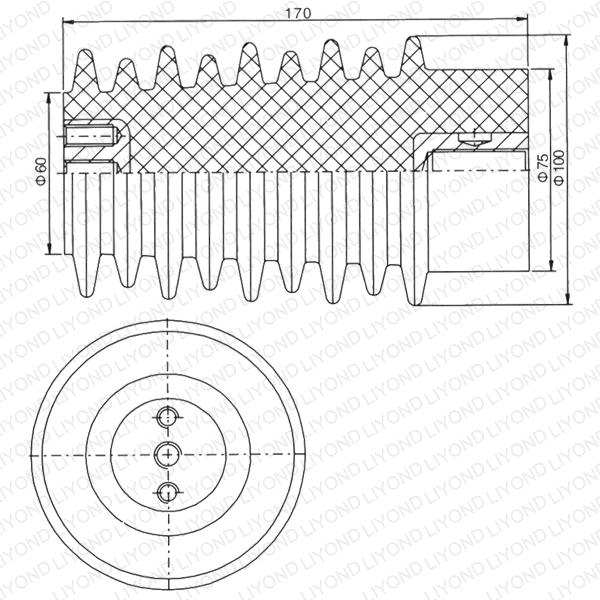 APG craft LYC115 red brown epoxy resin insulator for switchgear