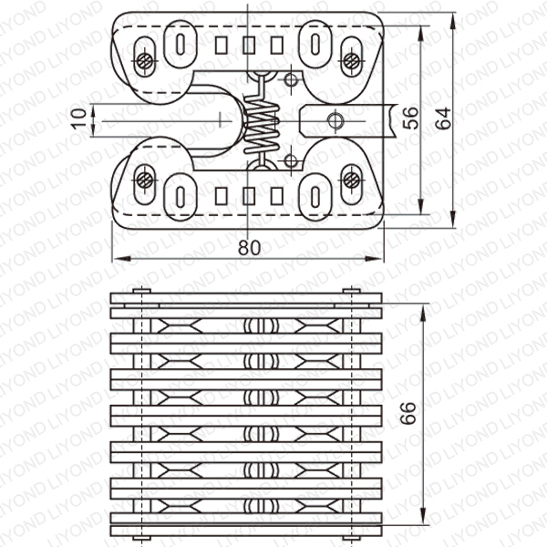1250A spring flat contact for VCB