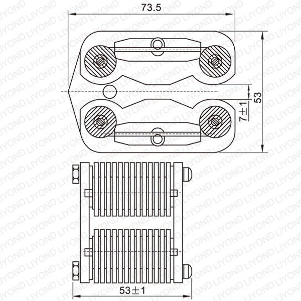 LYA501-GC7 400A spring flat contact for VCB