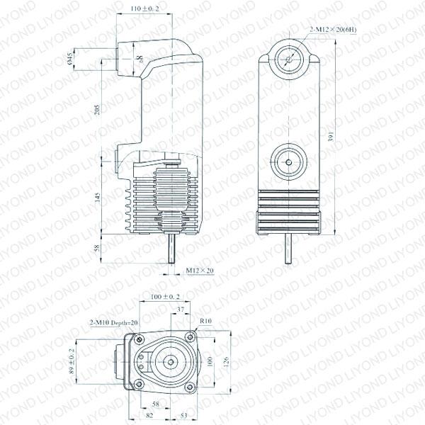 drawing Solid seal pole column for vacuum circuit breaker EEP1-12/1250-31.5