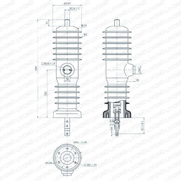 drawing Solid seal pole column for vacuum circuit breaker WEEP-12/630-20