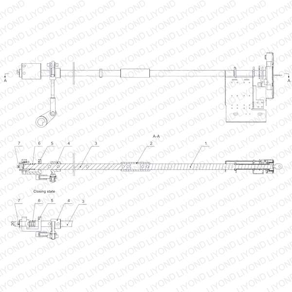 Earthing switch operation mechanism interlock device 5XS.363.010.3 drawing