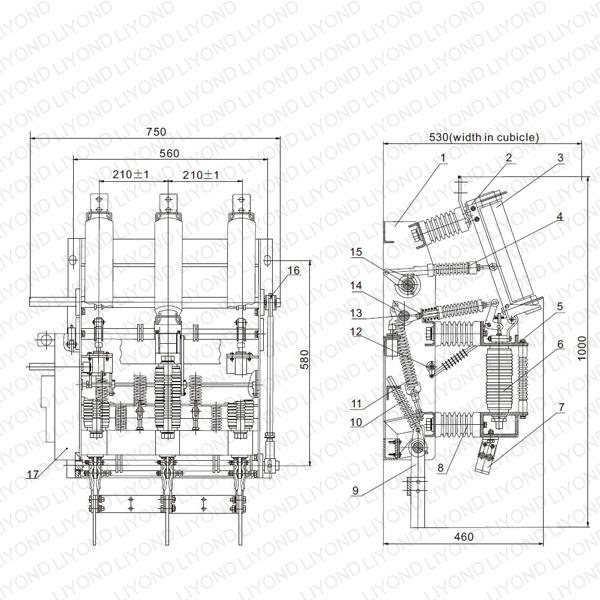 FZRN21-12D Vacuum Load Break Switch and Fuse Combination Apparatus