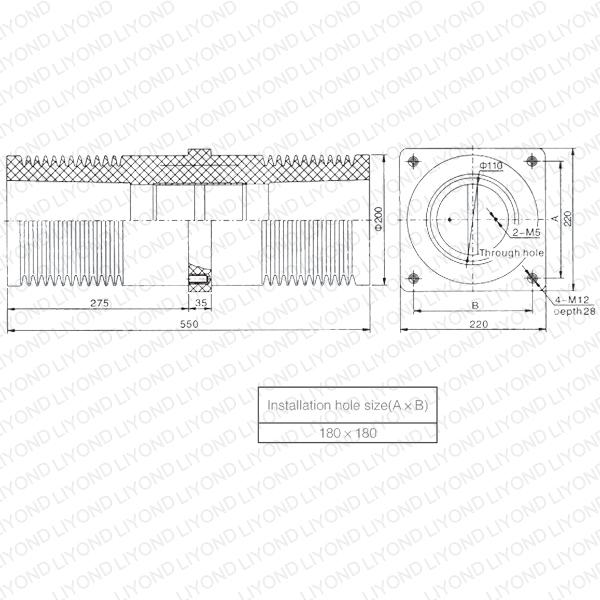 HV Epoxy Resin LYC154 Insulating Sheet Wall Bushing