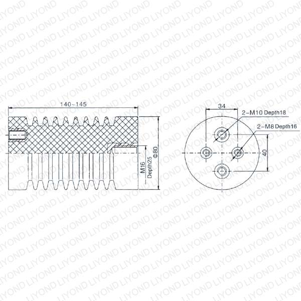 High Tension Capacitive Insulator for Switchgear LYC111