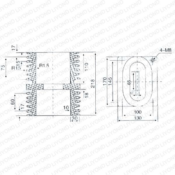 Insulation Bushing LYC144 for ABB Switchgear 12KV