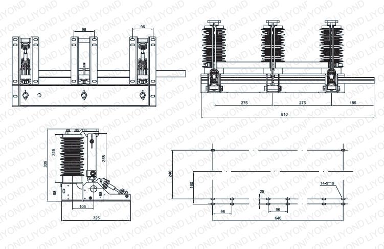 JN15-24/31.5 Indoor AC high voltage earthing switch