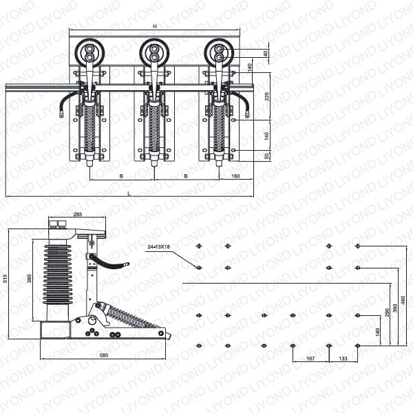 JN22-40.5/31.5 Indoor AC high voltage disconnect switch