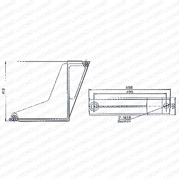 LYW104 Epoxy Resin Insulation Bent Plate for ABB Switchgear