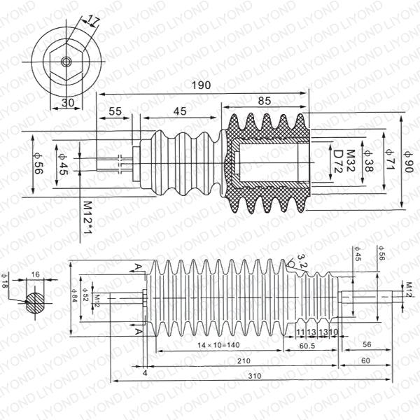 Led Insulation Bars LYC175 for HV