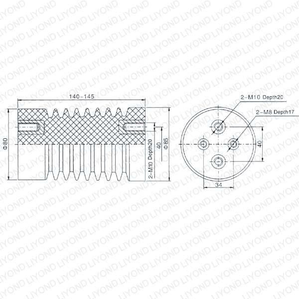 Red Insulator for High Voltage Switchgear LYC109 12KV