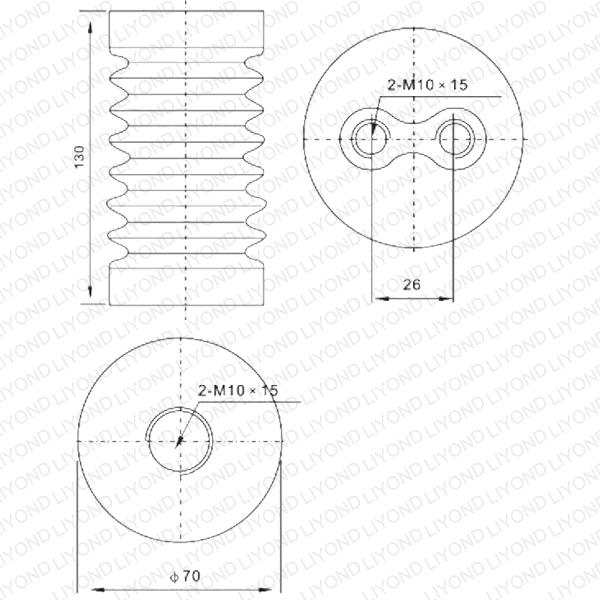 White Post Transducer with Epoxy Resin Switchgear LYC127 12KV