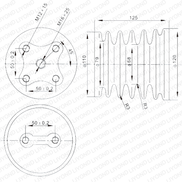 White Sensor by AGP Casting Way for Switchgear LYC125