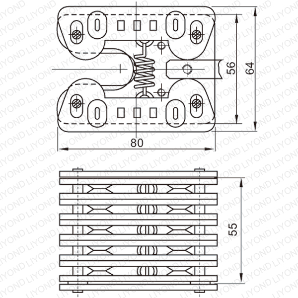 LYA302 GC8 1000A spring flat contact for VCB