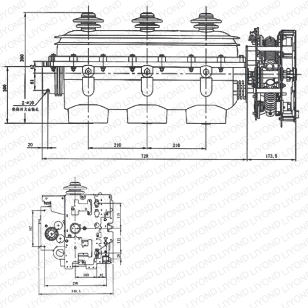 12kv SF6 load break switch