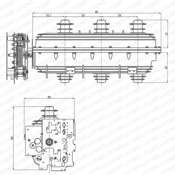 24kv SF6 load break switch