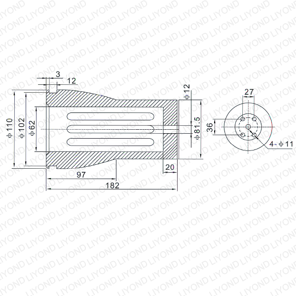 LYB259 3150A VS1 contact arm