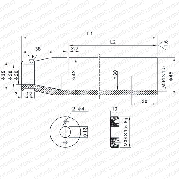 630A contact arm for vacuum circuit breaker LYB203-LYB207