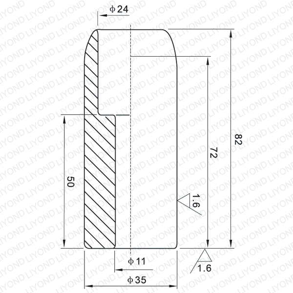 LYB101 630A fixed contact for vacuum circuit breaker