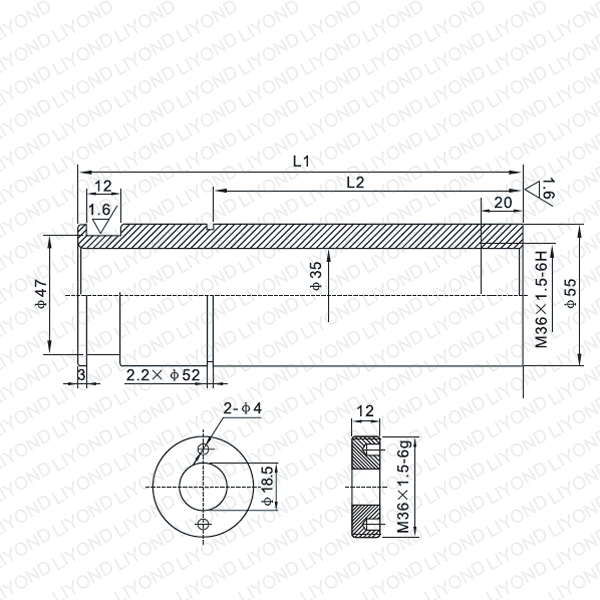LYB222-LYB225 VD4 1600A contact arm