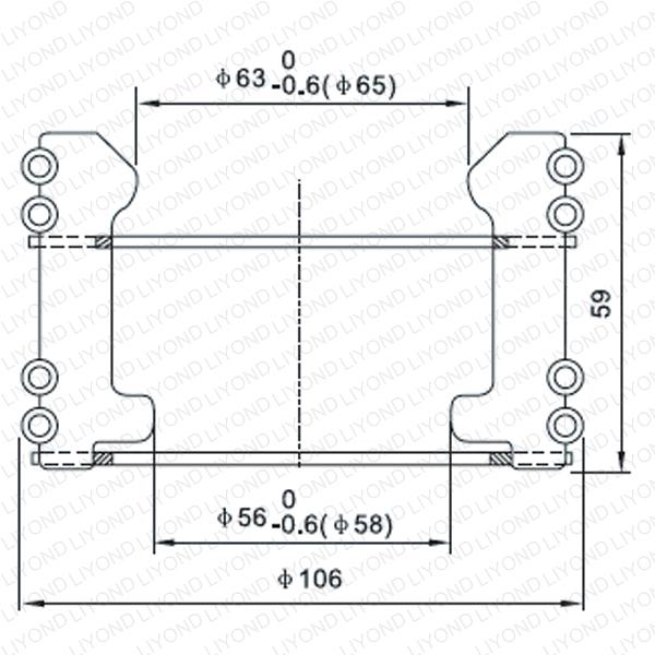 Contact finger for vacuum circuit breaker LYA125