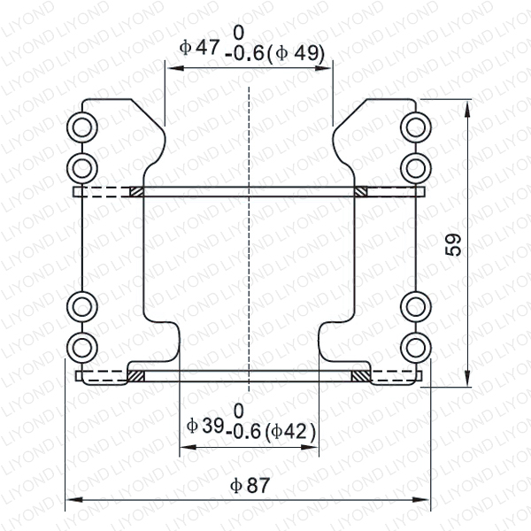 Moving contact for vacuum circuit breaker LYA127