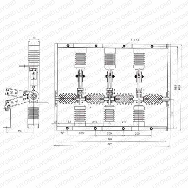 GN12 Indoor Circuit Breaker Disconnecting switch