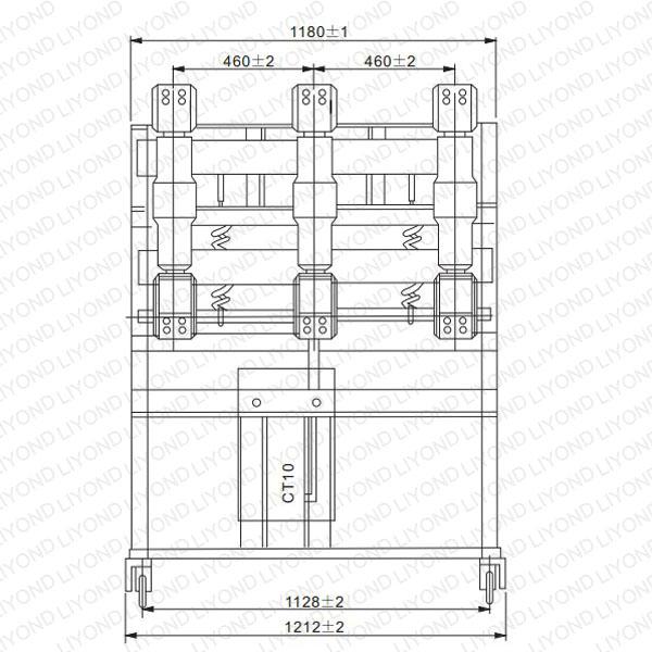 drawing ZN23-40.5 Indoor High Voltage Vacuum Circuit Interrupter
