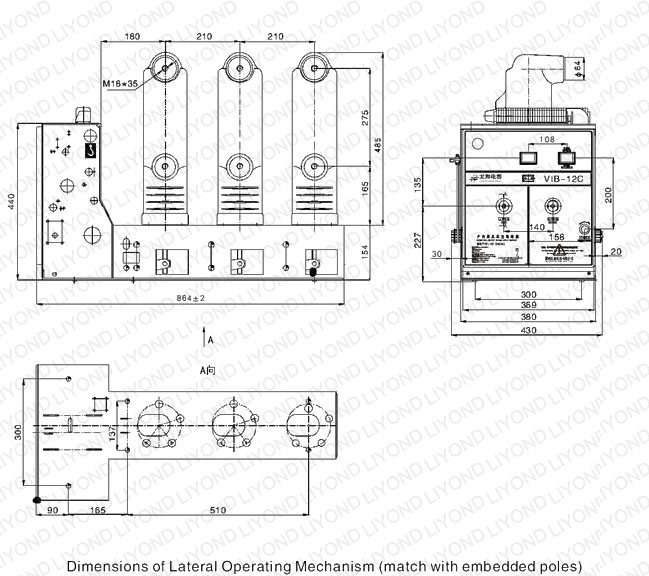 EP-12C indoor HV vacuum circuit breaker for 12kV switchgear