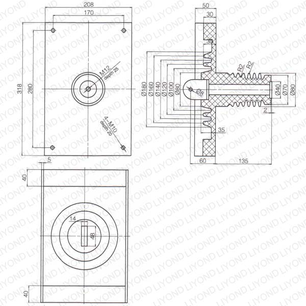 insulator support resin circuit breaker lyc397