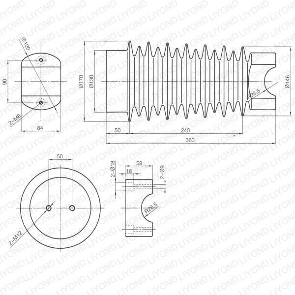 shackle insulator epoxy resin circuit breaker lyc347