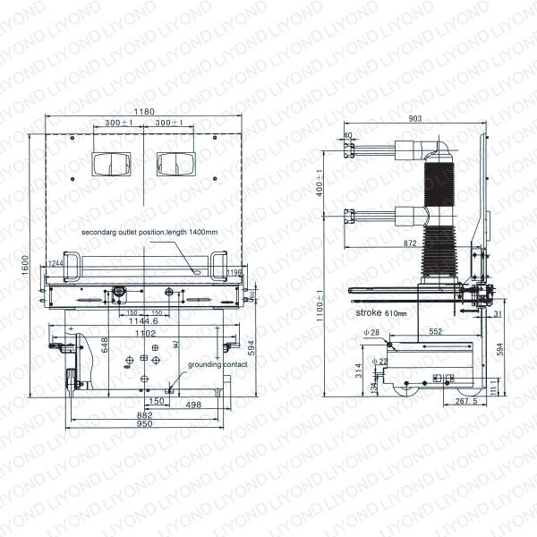 vs 1 t type indoor high voltage vacuum circuit