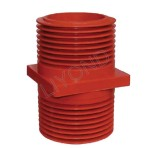 Red Wall Bushing LYC151 With Epoxy Resin For High Voltage