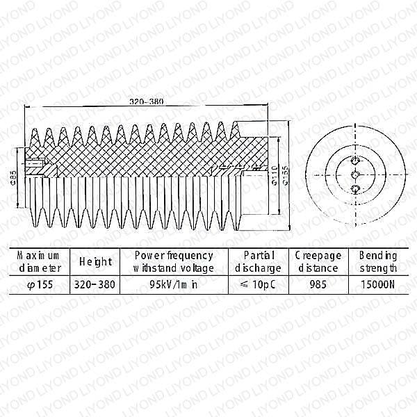 40.5kv LYC133 high voltage epoxy resin insulator in China