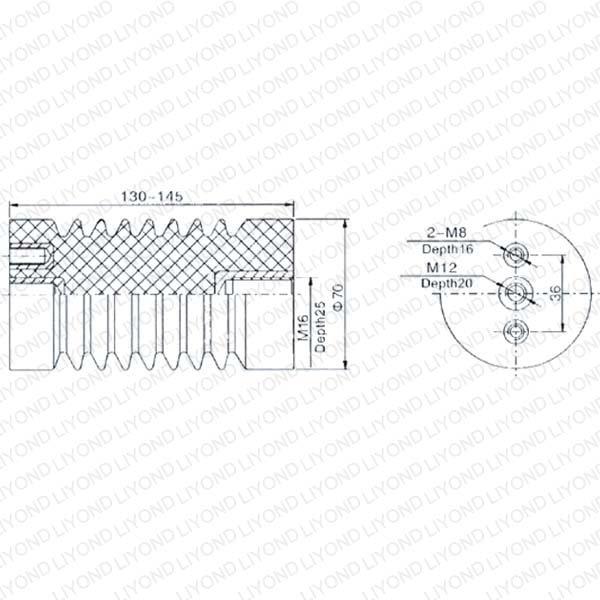 Brown Insulator for High Voltage Switchgear LYC110 12KV