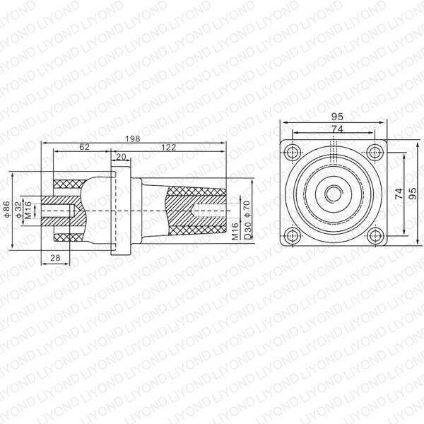 Bushing LYC169 SF6-24 Electric insulator for VCB