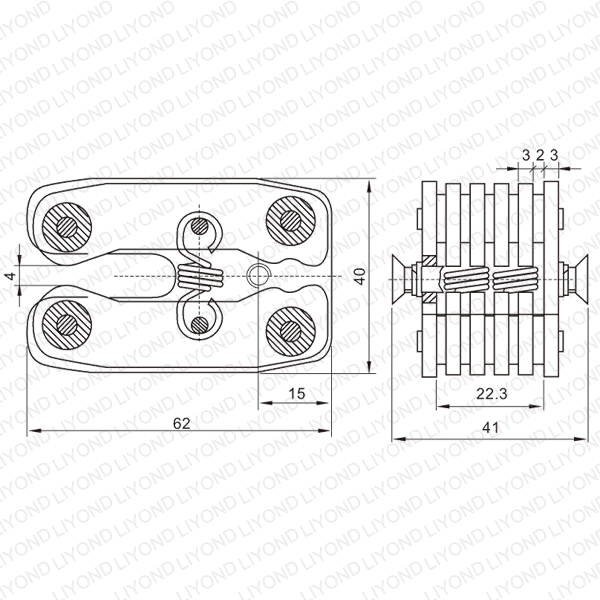extension spring flat contact