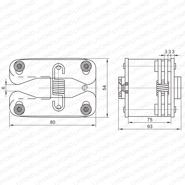 lya405 gc6 1250a elastic spring flat contact for vcb