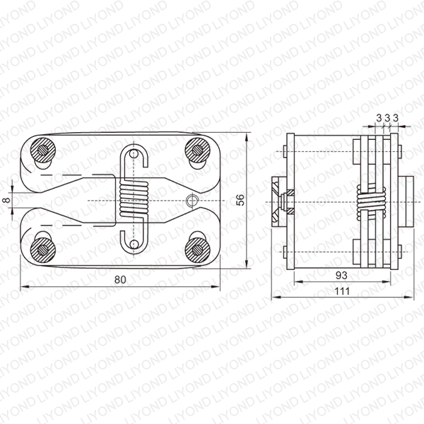 lya406 gc6 1600a elastic spring flat contact for vcb