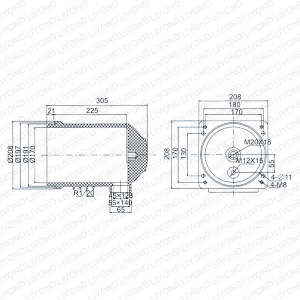 LY104 CH3-12/208 Epoxy Resin Contact Box for Switchgear
