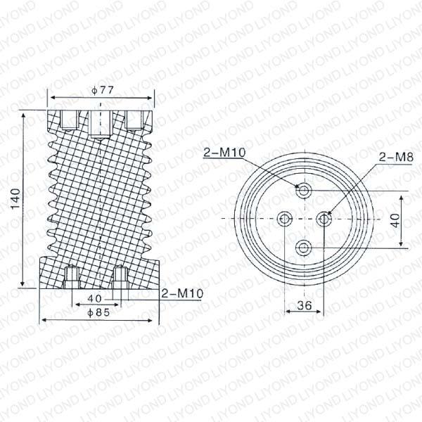 Post Insulator for High Voltage LYC103 12KV