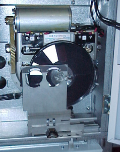 Single spring dynamoelectric operating mechanism