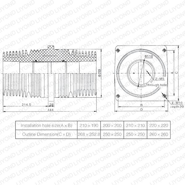 TG3-40.5 Bushing LYC153 Indoor Insulating Sheet for Switchgear