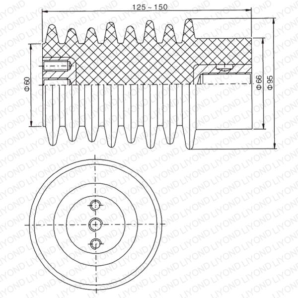 Voltage Divider Post Epoxy Insulator for Switchgear LYC112