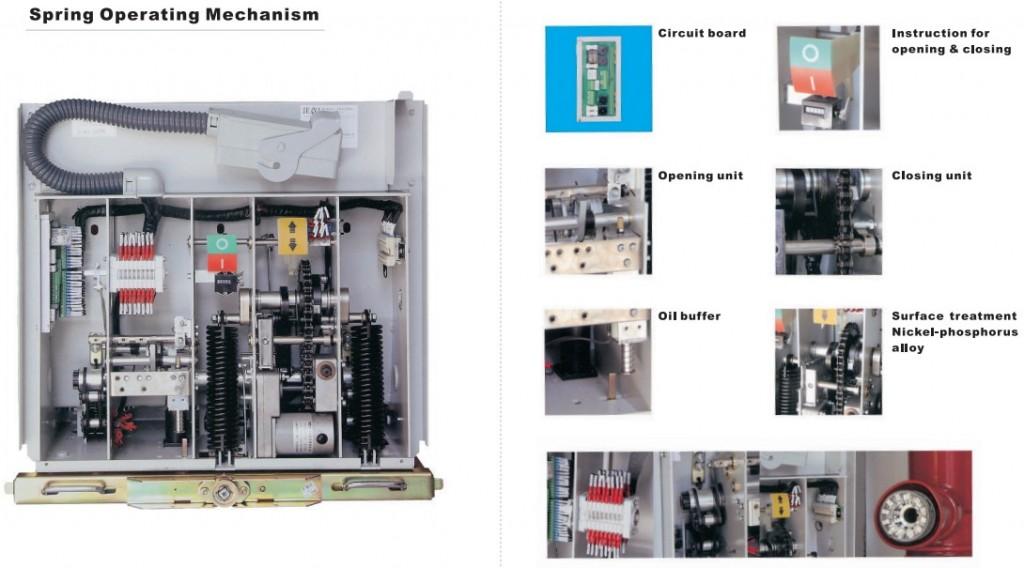 details ZN63-12(VS1-12)indoor high voltage vacuum circuit breaker for switchgear 12kV