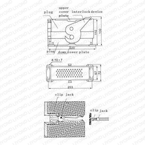 drawing JZ-58 secondary plug socket for vacuum circuit breaker