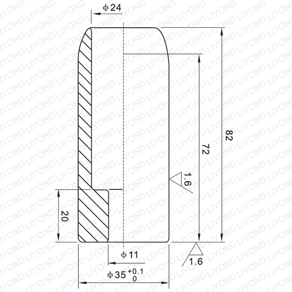 LYB113 630A male contact for vacuum circuit breaker